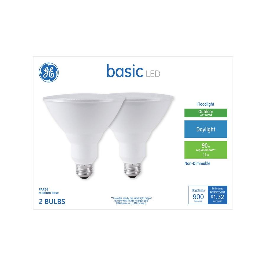 GE Basic 90-Watt EQ PAR38 Daylight LED Light Bulb (2-Pack