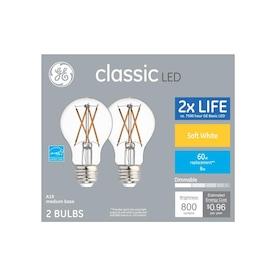 GE Classic 60-Watt EQ A19 Soft White Dimmable LED Light Bulb (2-Pack)
