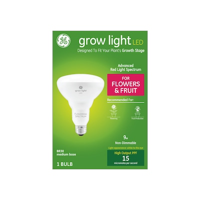 Ge 6 In 1 Light White 9 Watt Br30 Led Grow At Lowes