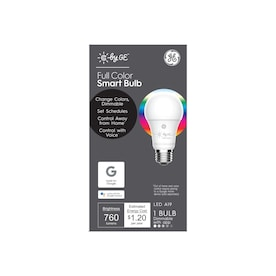 GE C by GE Smart 10-Watt EQ A19 Full Color Dimmable LED Light Bulb
