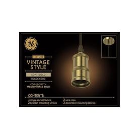 GE Soft Gold Pendant Light Vintage LED Pendant Light