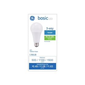 GE Basic 120-Watt EQ A21 Daylight 3-Way Bulb LED Light Bulb