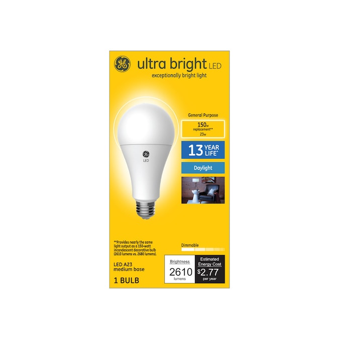 Ge Ultra Bright 150 Watt Eq A23 Daylight Dimmable Led Light Bulb In The General Purpose Led Light Bulbs Department At Lowes Com
