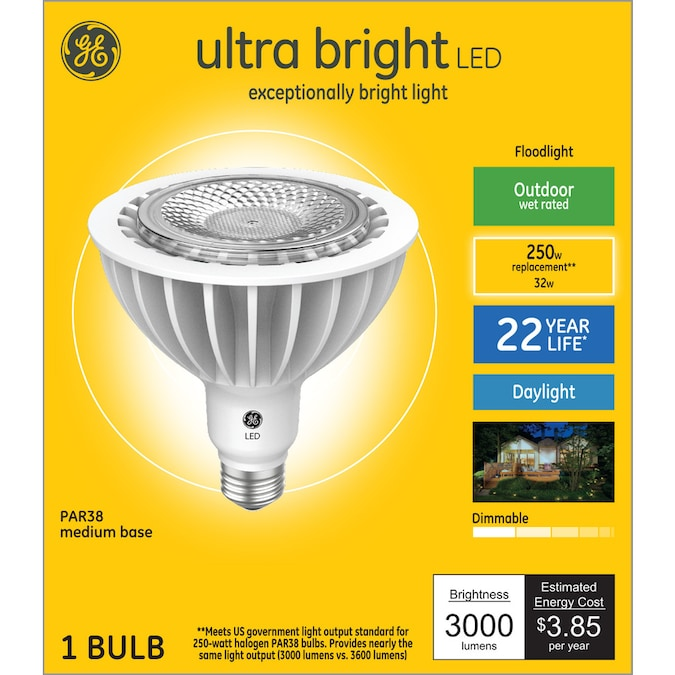 Ge Ultra Bright Led 250 Watt Eq Led Par38 Daylight Dimmable Flood Light Light Bulb In The Spot Flood Led Light Bulbs Department At Lowes Com