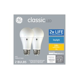 GE Classic 100-Watt EQ A19 Daylight Dimmable LED Light Bulb (2-Pack)