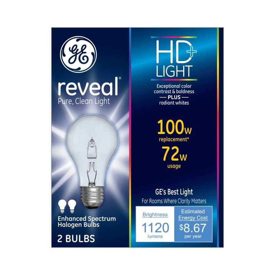 Color-enhancing 100-Watt Dimmable A-style Replacement Halogen Light Bulb 2-Pack