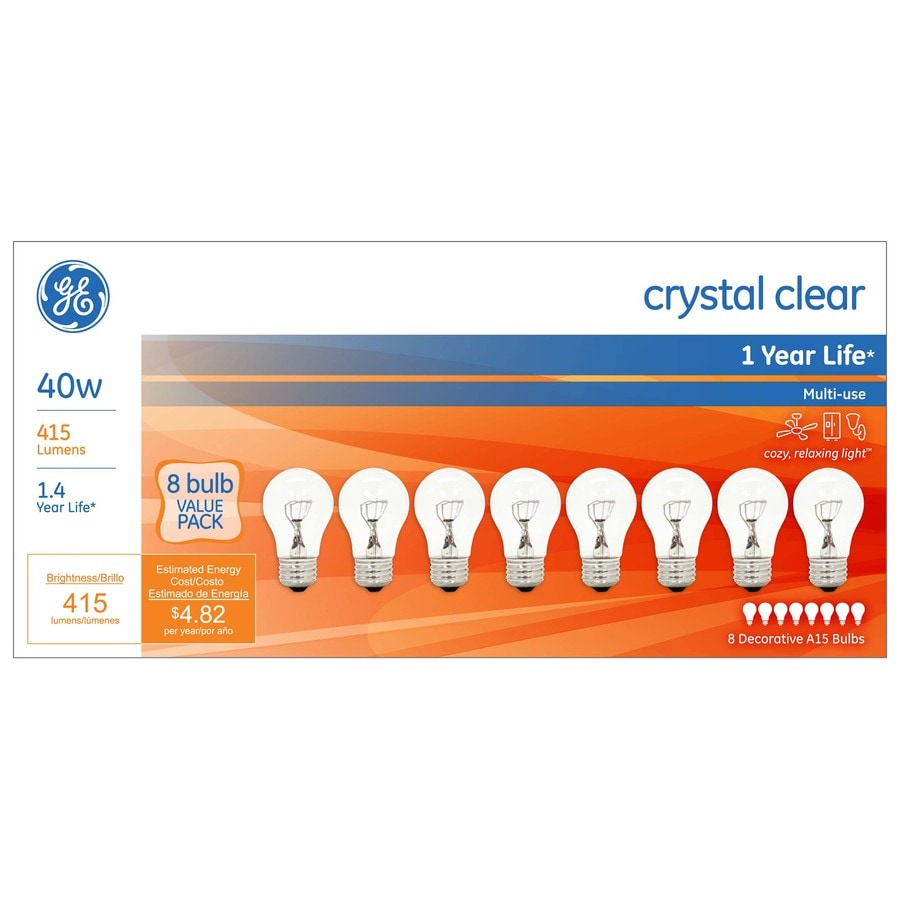 GE 8-Pack 40 Watt for Indoor or Enclosed Outdoor Dimmable Soft White Incandescent Decorative Light Bulbs