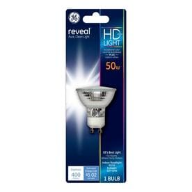 Ge Reveal 50 Watt Eq Dimmable Bright White Reflector Flood Halogen Light Bulb