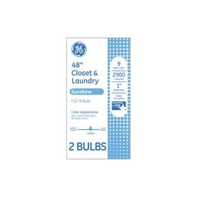 GE 32-Watt 48-in Medium Bi-pin (T8) 5000 K Cool White Fluorescent Light Bulb (2-Pack)