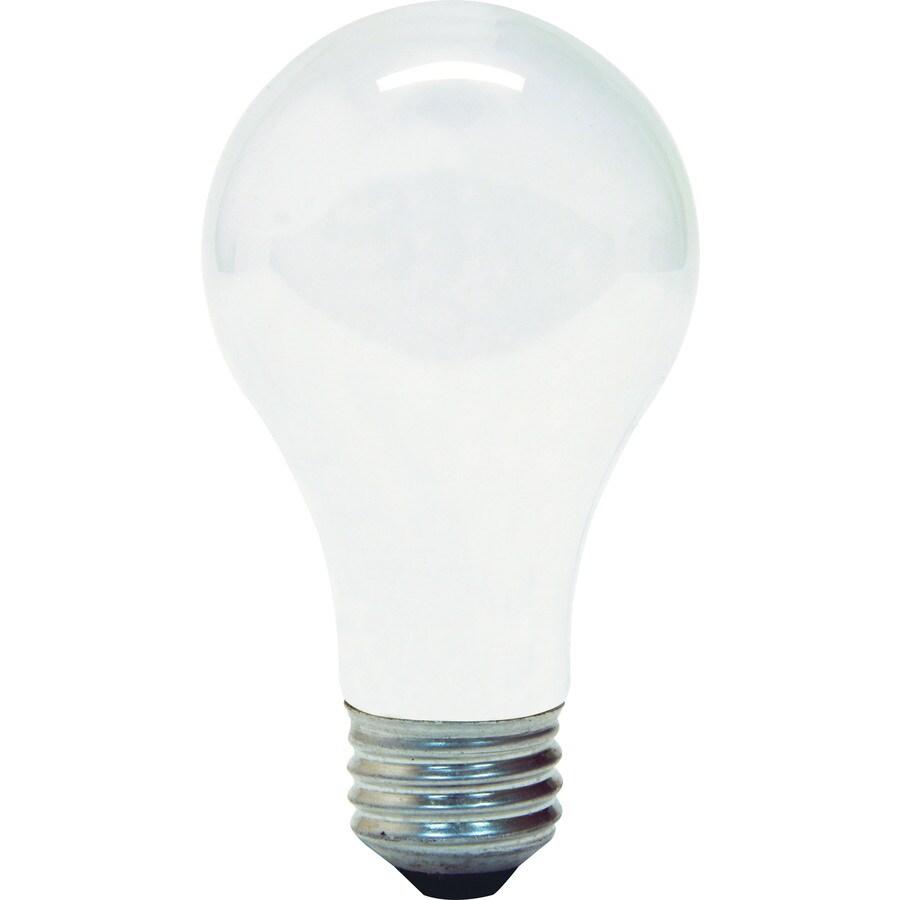 GE 4-Pack 53 Watt Dimmable Soft White A19 Halogen Light Fixture Light Bulb