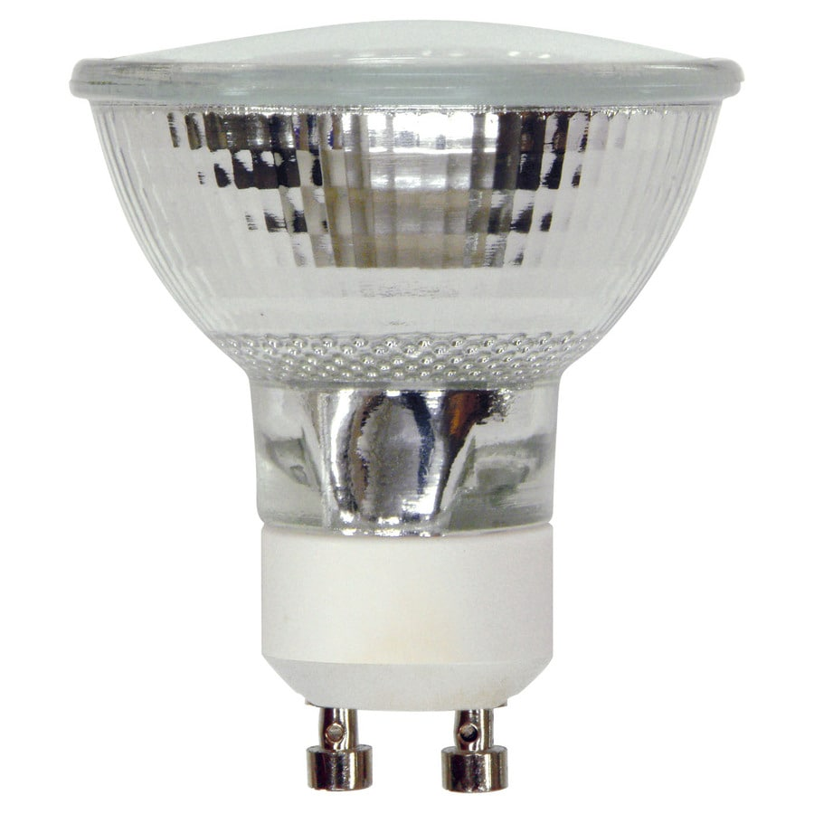 shop ge 50 watt dimmable bright white gu10 halogen flood light bulb at. Black Bedroom Furniture Sets. Home Design Ideas