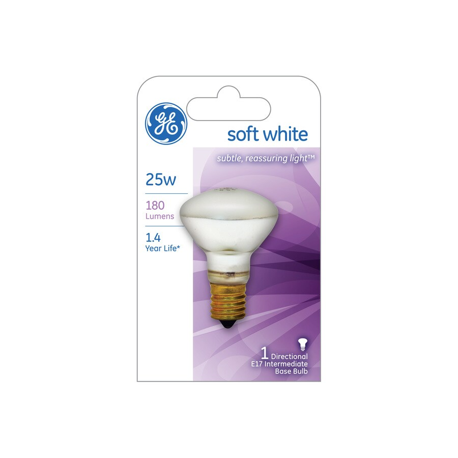 Shop Ge 25 Watt Indoor Dimmable Soft White R14 Incandescent Decorative Light Bulb At