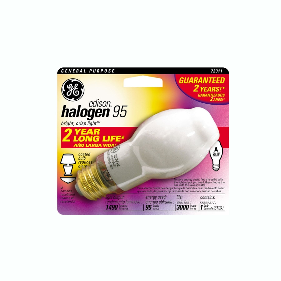 GE 95 Watt Dimmable Bright White Bt Halogen Light Fixture Light Bulb