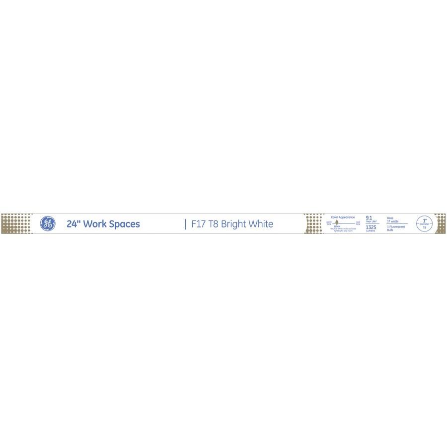 GE 17-Watt 3,500K Bright White Fluorescent Tube Light Bulb (Common: 24-in; Actual: 24-in)