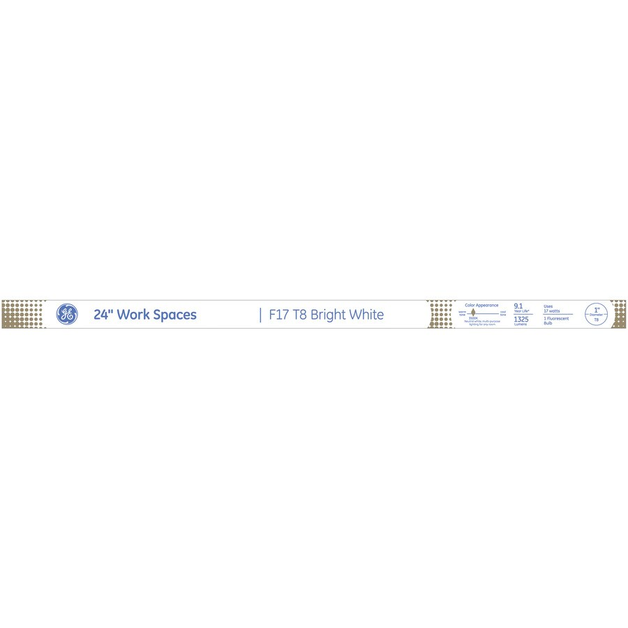 GE 17-Watt 3500K Bright White Linear Fluorescent Tube Light Bulb (Common: 24-in; Actual: 24-in)