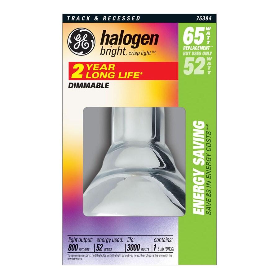GE 52 Watt Dimmable Bright White Br30 Halogen Flood Light Bulb