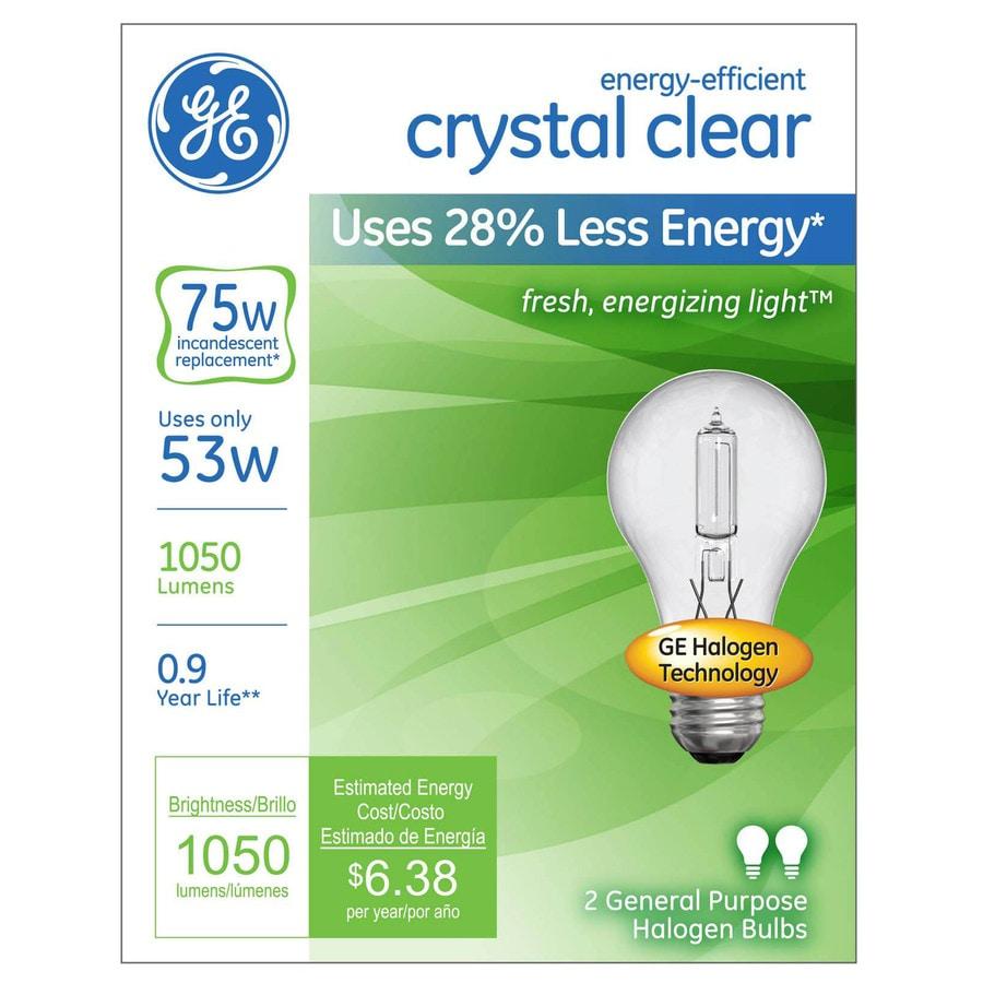 bright white light bulbs ge 2pack 53 watt dimmable bright white a19 halogen light fixture bulb. Black Bedroom Furniture Sets. Home Design Ideas
