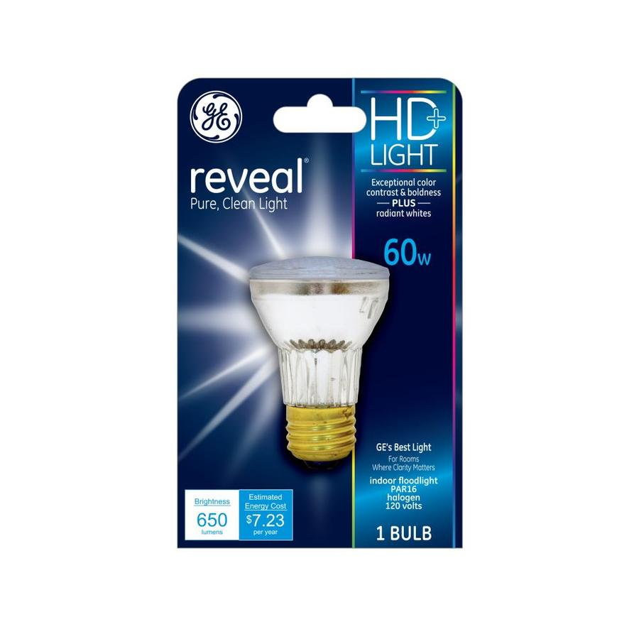 GE 60 Watt Dimmable Color-Enhancing Par16 Halogen Flood Light Bulb