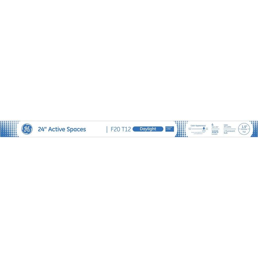GE 20-Watt 6500K Daylight Linear Fluorescent Tube Light Bulb (Common: 24-in; Actual: 24-in)