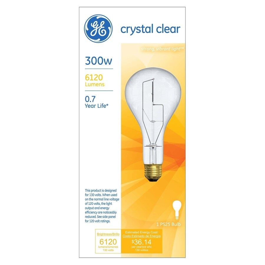 Shop GE 300-Watt PS Soft White Incandescent Light Bulb at Lowes.com
