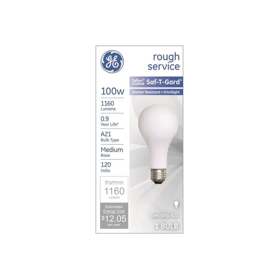 GE 100 Watt Dimmable Soft White A21 Incandescent Light Fixture Light Bulb