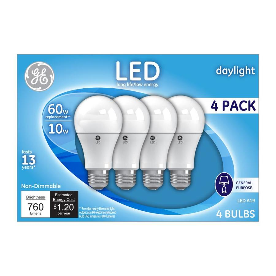 Shop GE 60-Watt EQ Daylight Light Bulbs (4-Pack) at Lowes.com