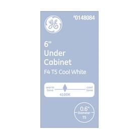 GE 4-Watt 6-in Miniature Bi-pin (T5) 4100 K Cool White Fluorescent Light Bulb