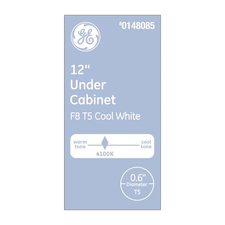 GE 8-Watt 4100K Cool White Linear Fluorescent Tube Light Bulb (Common: 12-in; Actual: 12-in)