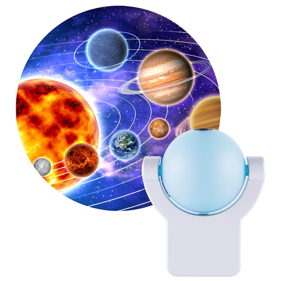 Projectables Solar System Blue LED Night Light with Auto On/Off