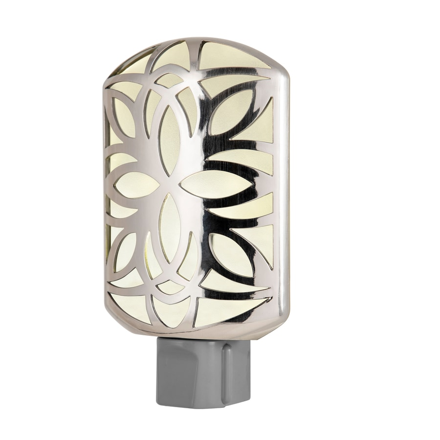 GE Brushed Nickel LED Night Light with Auto On/Off