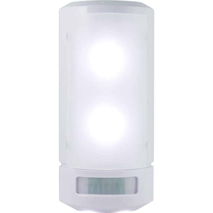 GE 3.06-in W 1-Light White Pocket Battery Wall Sconce