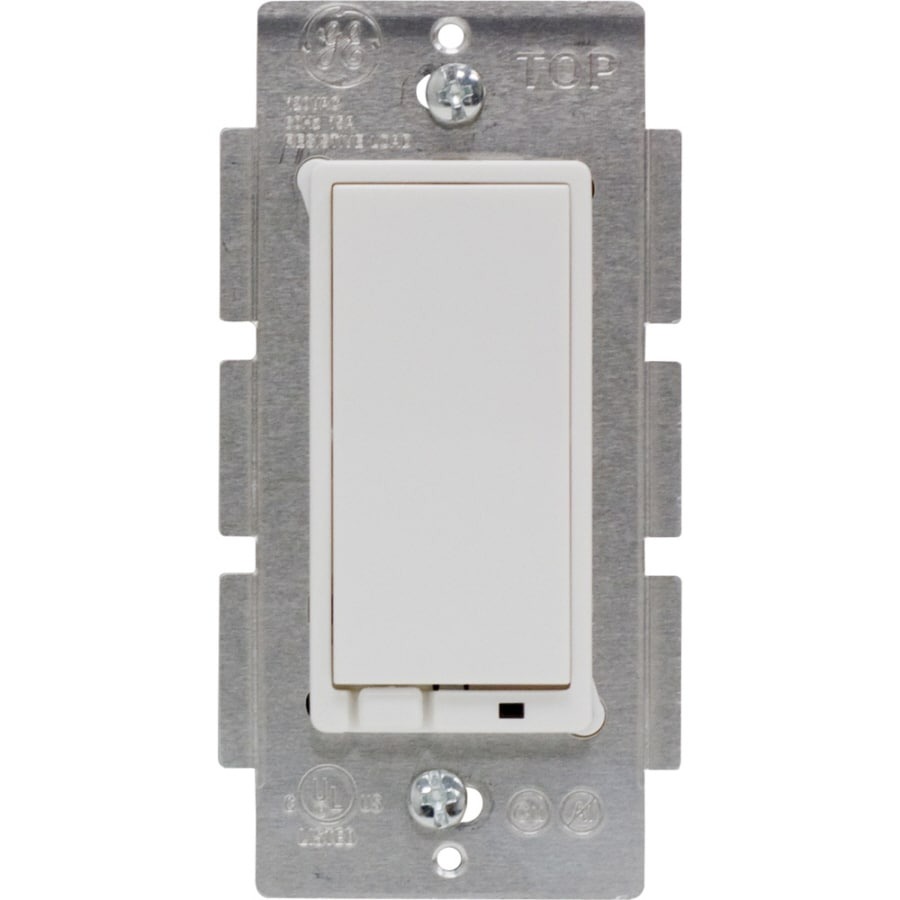 GE Single Pole 3-Way White Light Switch