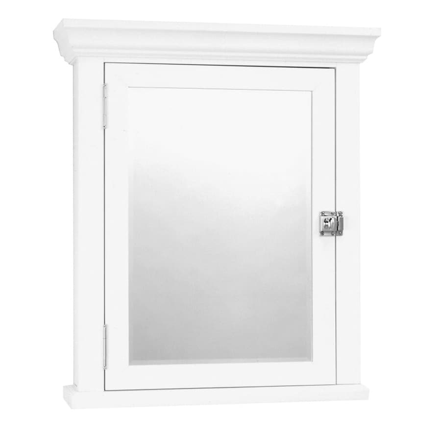 Zenna Home 22.38 In X 27.19 In Rectangle Surface MDF Mirrored Medicine  Cabinet