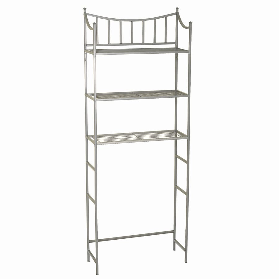 Zenith 25 19 In W X 66 38 H 9 5 D Satin Nickel Over The Toilet Etagere Etageres Department At Lowes Com