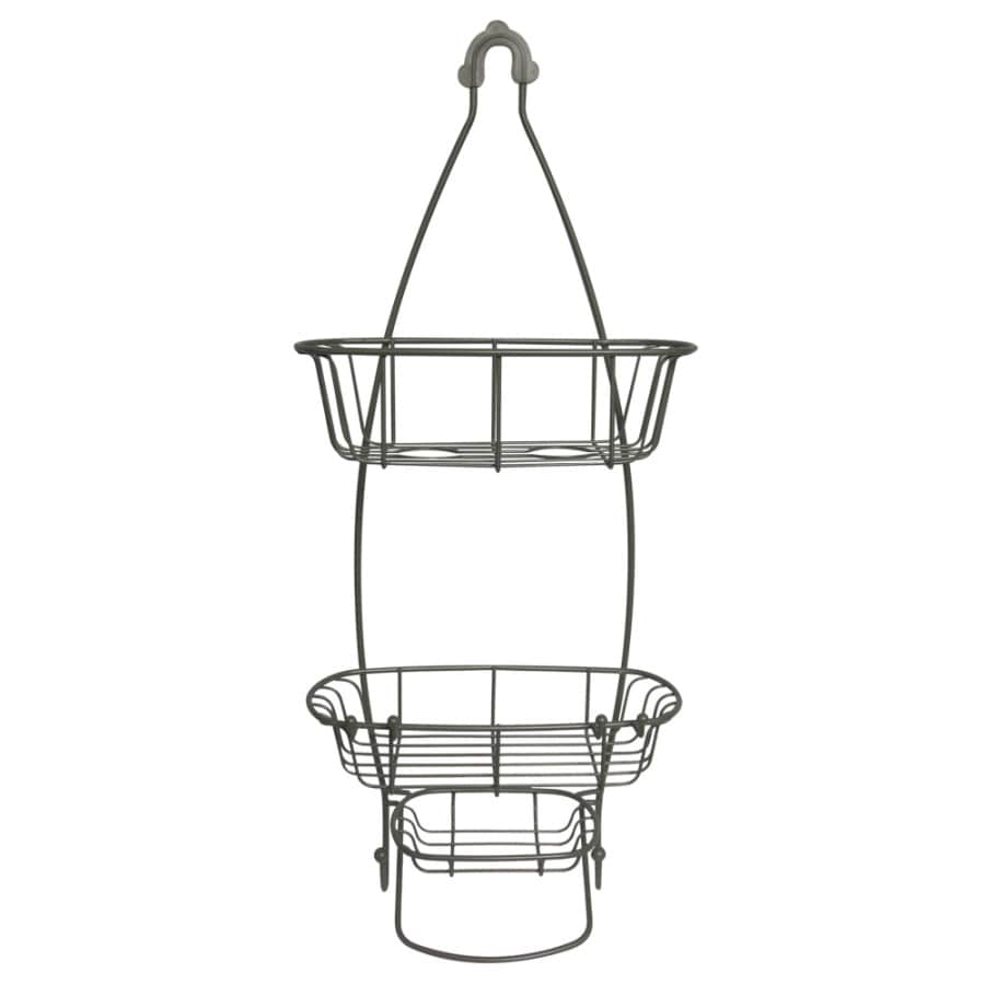 Style Selections 25-7/8-in H Over The Showerhead Steel Hanging Shower Caddy