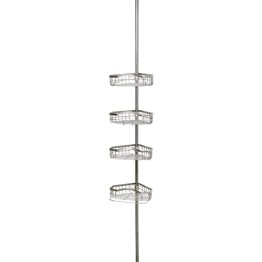 allen roth 108in h steel tension pole shower caddy
