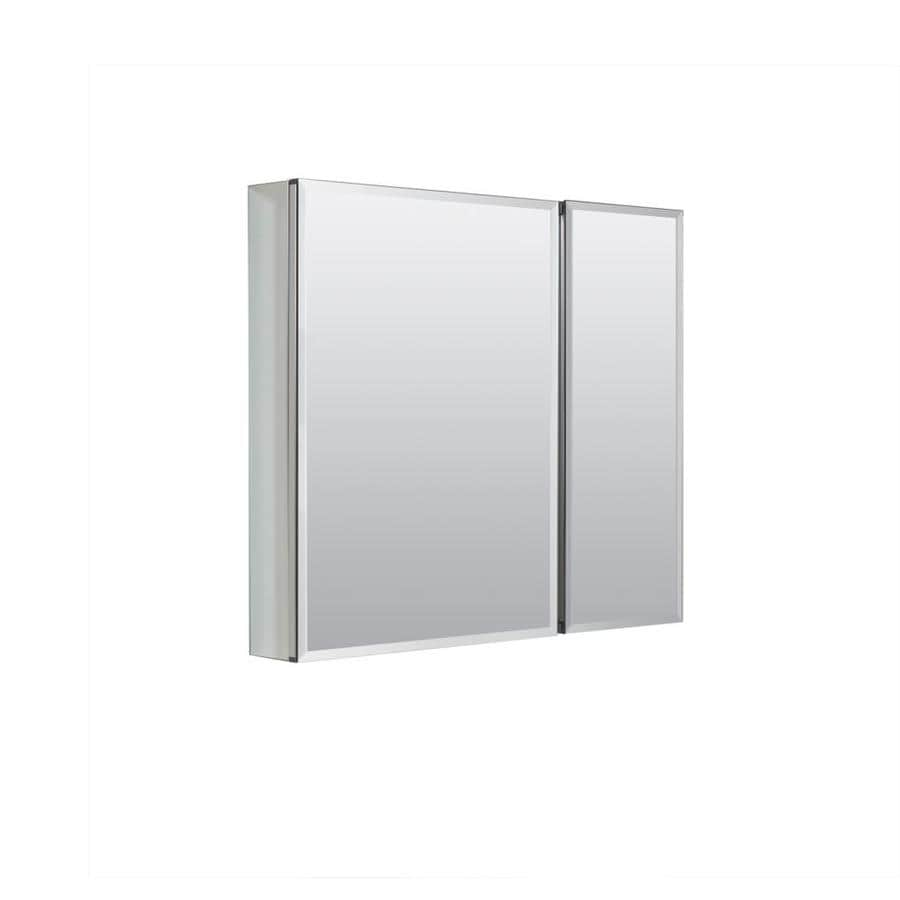 Zenith 30 In X 26 Rectangle Surface Recessed Mirrored Aluminum Medicine Cabinet