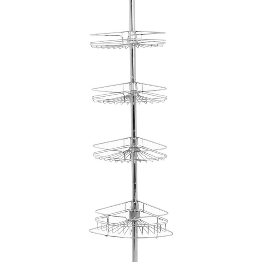 Zenith 97-in H Steel Chrome Tension Pole Shower Caddy
