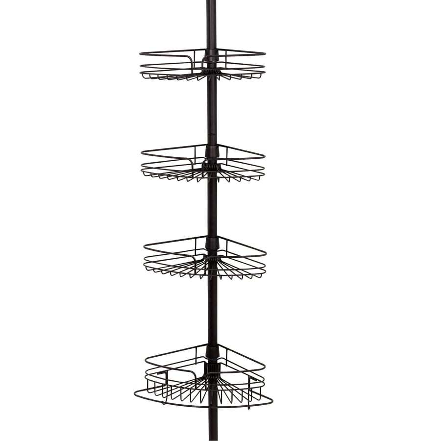 Shop Zenith 97-in H Steel Bronze Tension Pole FreestAnding Shower ...