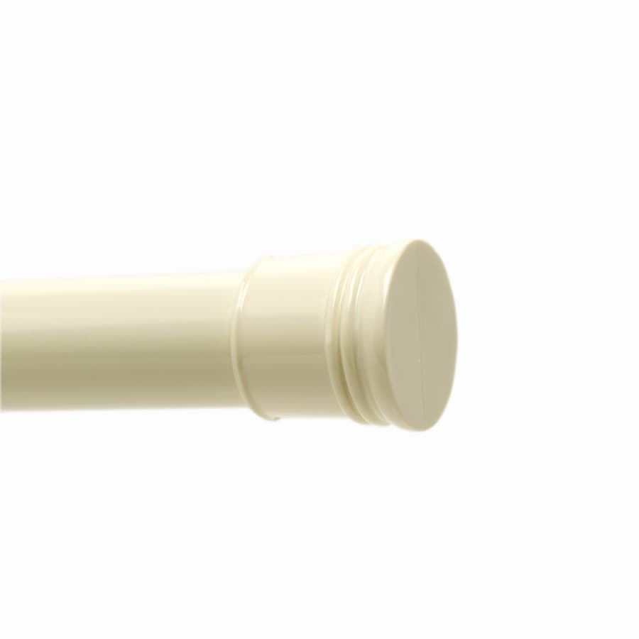 Shop Style Selections 72 In Bone Adjustable Shower Curtain Rod At