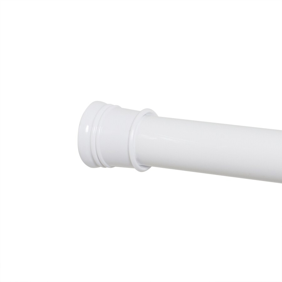 Style Selections 72-in White Adjustable Shower Curtain Rod