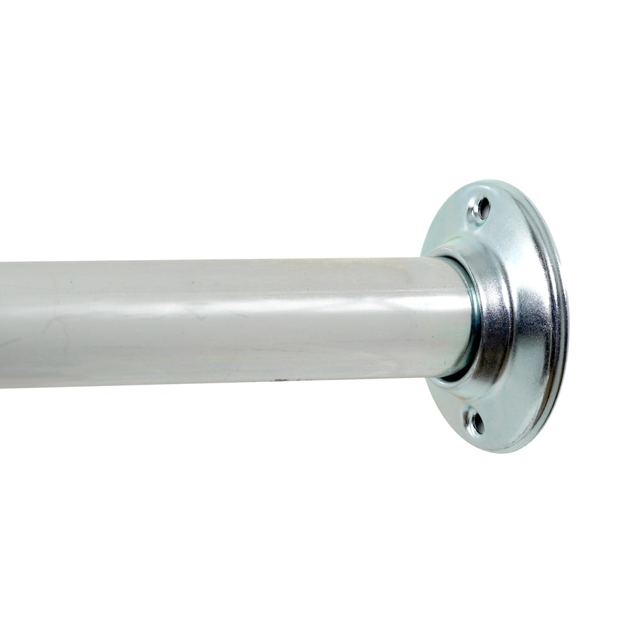Project Source 60-in Chrome Single Straight Zinc Fixed Shower Rod