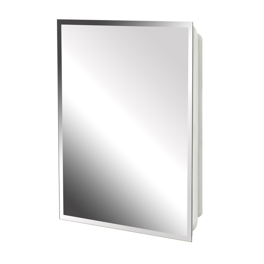 Project Source 16 In X 20 Rectangle Surface Recessed Mirrored Plastic Medicine Cabinet