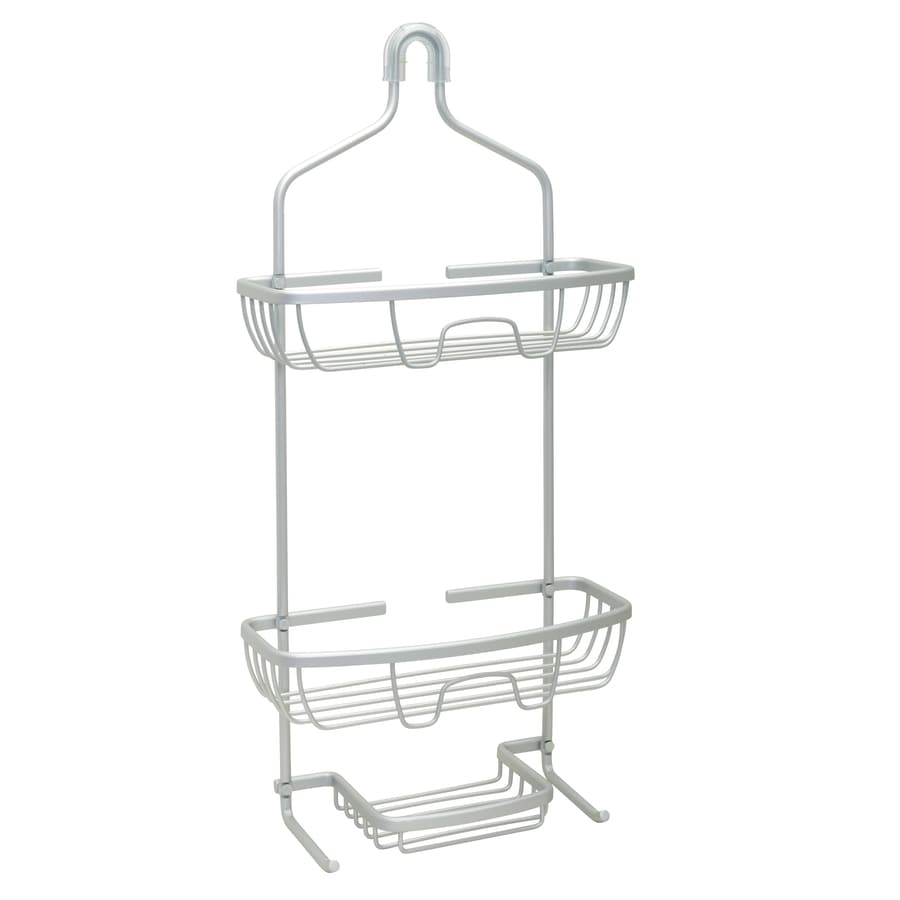 zenna home 225in h over the showerhead aluminum hanging shower caddy