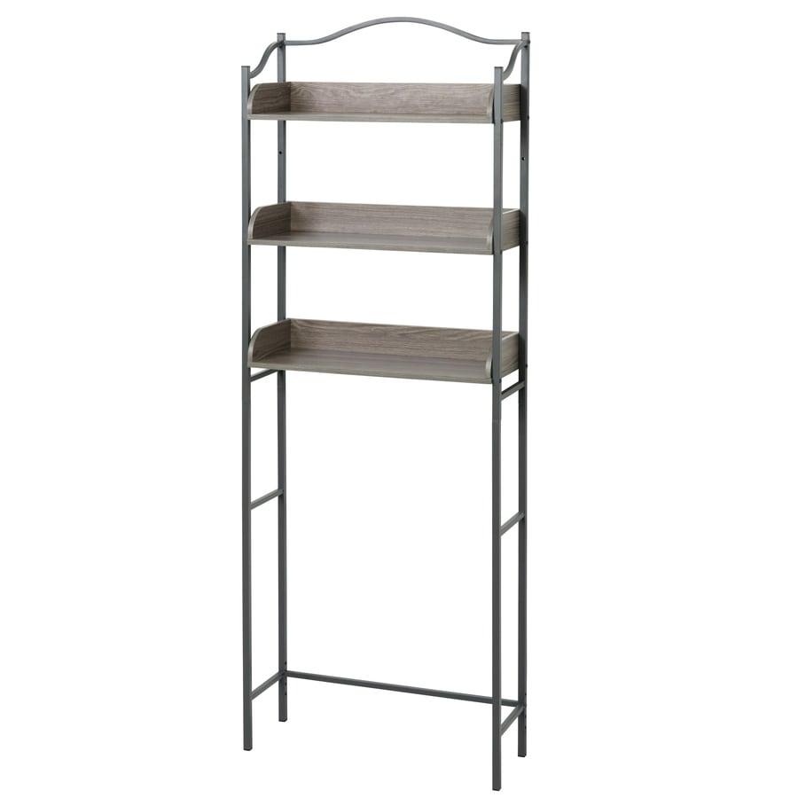 Brushed Nickel Bathroom Etagere Part - 19: Zenna Home Driftwood 24-in W x 66.5-in H x 9-in
