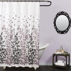 Zenna Home Polyester Multi Patterned Shower Curtain