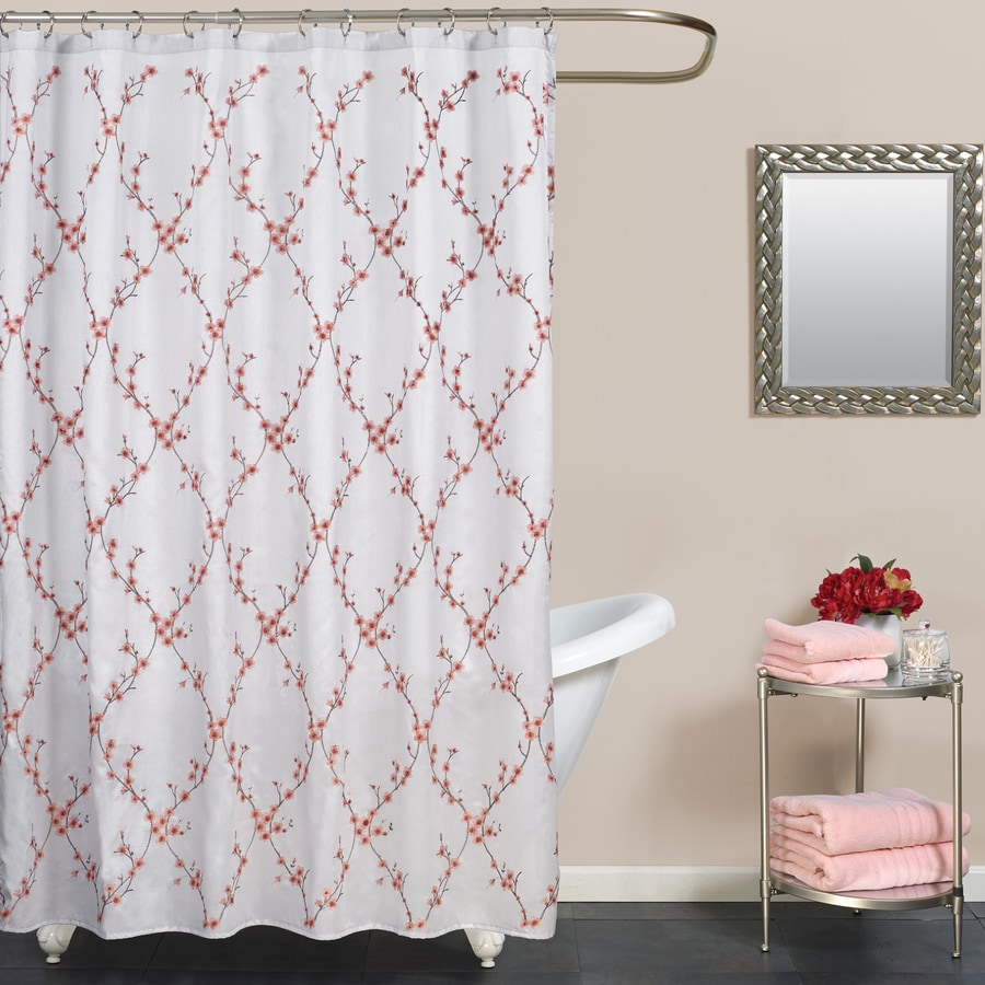 Zenna Home Polyester Multi Color Floral Shower Curtain