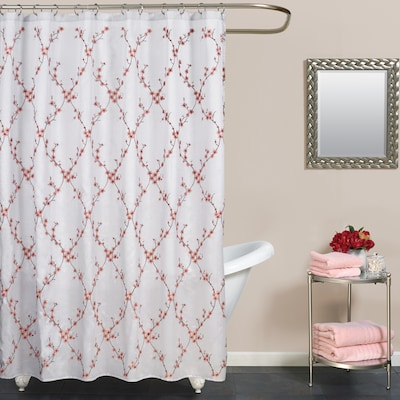 Polyester Multi Color Fl Shower Curtain