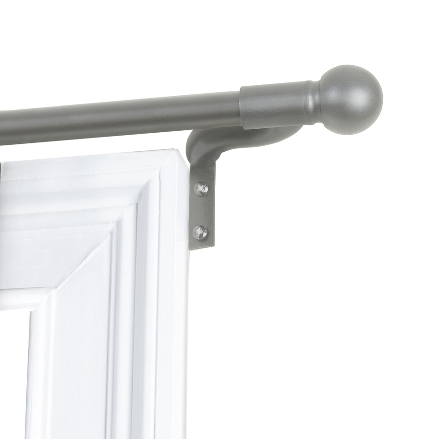 Smart Rods Easy Install Cafe Window Curtain Rod 48 In 120 Brushed Nickel