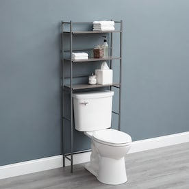 Zenna Home Driftwood 24 In W X 66 5 In H X 9 In D Driftwood Gray Etagere In The Etageres Department At Lowes Com
